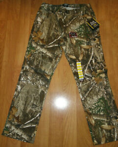 NEW Mens 5 Pocket Pants REALTREE EDGE Camo Camouflage Hunting Jeans Flex M 32 34 $32.99