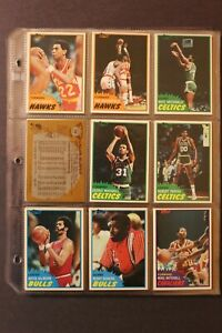 1981 82 Topps Basketball Card Near Complete Set 63 66 Base plus 43 44 West $41.75