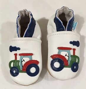 Juicy Bumbles Soft Sole Leather Baby Shoes Baby Boy Shoes 12 18 Months NWOT $14.99