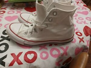 Converse Chuck Taylor All Star Sneakers size 7 Womens 5 Mens High Top White $25.00