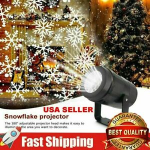 Christmas LED Outdoor Rotating Snowflake Laser Light Projector Lamp Party Decor $13.99