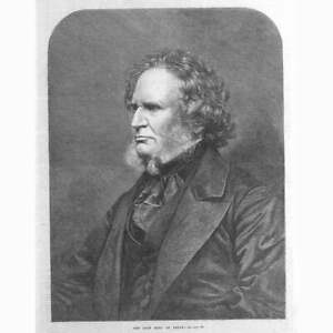 THE EARL OF DERBY Edward Smith Stanley Antique Print 1869 GBP 12.95
