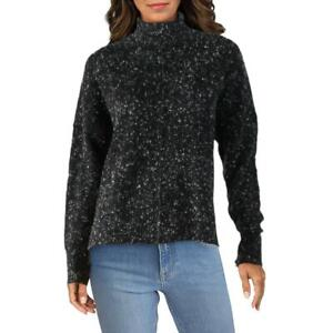 French Connection Womens Marled Crop Pullover Mock Sweater Top BHFO 6636 $16.99