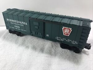 LIONEL O GAUGE PENNSYLVANIA RR GREEN BOXCAR FROM 2004 With REPAIRED TRUCKS 👎🏻 $11.00