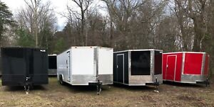 2021 8.5 x 24#x27; V Nose Enclosed Trailer Race Car Cargo *FREE DELIVERY SE states