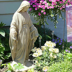 Virgin Mary Statue 34quot; Blessed Mother Garden Sculpture Resin Religious Home Deco