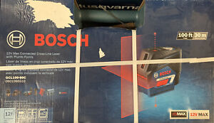 Bosch GCL100 80C 12V Max Connected Cross Line Laser w Plumb Points New Sealed $139.95