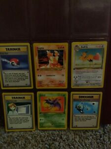 6 1st edition pokemon cards different sets $10.00
