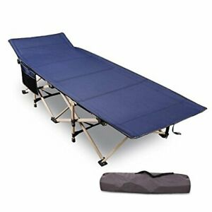 Folding Camping Cots for Adults Heavy Duty 28quot; Blue Heavy Duty 75quot;x28quot;