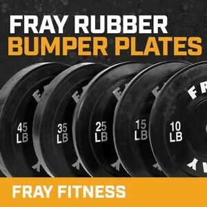 Fray Fitness Olympic Rubber Bumper Weight Plates Plate 10 15 25 35 45 lbs $69.70