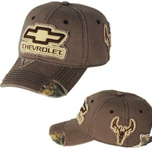 MENS CHEVY CAMO HAT CAP CHEVROLET BOWTIE CAMOUFLAGE WITH CHEVROLET NEW