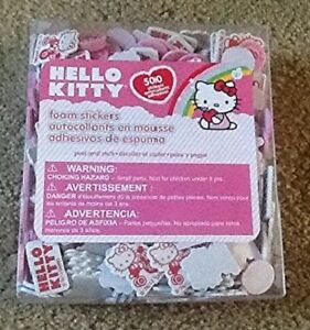 Hello Kitty 500 Peel and Stick Foam Stickers