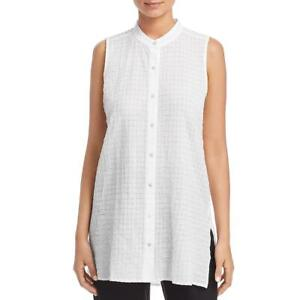 Eileen Fisher Womens Solid Long Open Cardigan Top BHFO 6231 $24.99