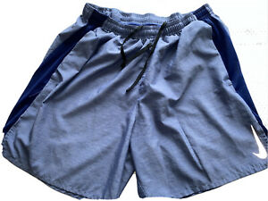 Nike Mens Running Shorts Dark Gray Charcoal Dri Fit Size Large Athletic $12.99