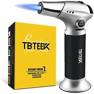 Kitchen Torch Cooking Torch With Safety Lock Adjustable Flame For BBQ Baking