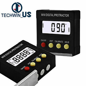 360 Degree Digital Inclinometer Protractor Electronic Level Box Magnetic Base $9.43