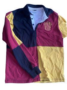 Wizarding World of Harry Potter Gryffindor Quidditch Jersey Polo Sz Small $32.99