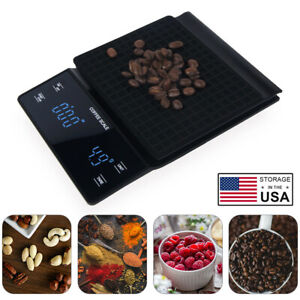 Coffee Scale Portable Electronic Digital With Timer High Precision LED Display $23.99