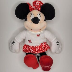 🎄 Disney Collection Minnie Mouse Stuffed Plush 2017 Holiday Christmas 15quot; $11.99