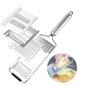 3 in 1 Vegetable Shredder Stainless Steel Cheese Grater Cutter For Carrot Tools