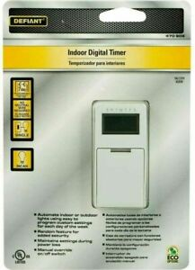 Defiant 5 Amp In wall Digital Timer No Neutral wire 7 Day Incandescent Only * $15.99