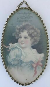 Antique Reproductions by Nuhl Vintage Oval Print with Chain Frame and Hook $9.95