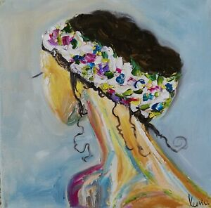 Oil original painting on canvas size 12x12 inches $85.00