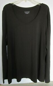 EILEEN FISHER LS Brown Italian Yarn Stretchy Knit Top Size XL $15.00