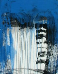Modernist ABSTRACT PAINTING Expressionist MODERN ART CRIES OF THE SKY FOLTZ $65.00