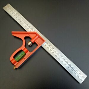 Steel Combination Square Steel Ruler Combination Set Square Ruler 300mm 12#x27;#x27; New C $25.39
