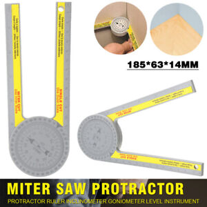 Engineering Miter Saw Protractor Angle Finder Rule Degree Measurement Ruler US $9.95