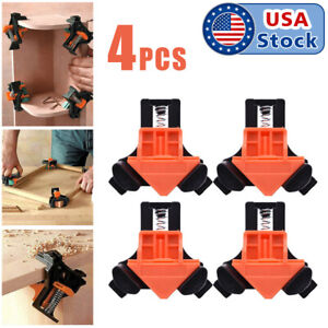 4Pcs Set 90 Degree Right Angle Clip Clamps Corner Holders Woodworking Hand Tools $12.98