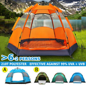 3 8 Person Automatic Family Camping Tent Large Waterproof Outdoor Hiking Travel