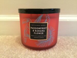 Bath Body Works Passionfruit Banana Flower Scented Large 3 Wick Candle $17.00