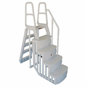 Main Access 48 54 Inch Above Ground Swimming Pool Smart Step and Ladder System