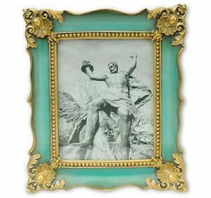 Picture Frame Vintage Photo Frames Antique in Green with 8x10 Grass Green