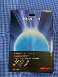 Audioquest NRG 1 6ft Power Cable 15a New In Box $59.99