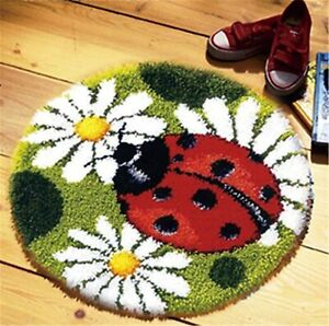 Model Animal Latch Hook Kit Rug Animal Ladybug DIY Needle Craft $16.99