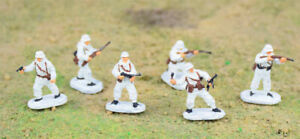 New 1 72 Scale 6PCS WWII German Infantries Assembled Snow Painting Plastic Model