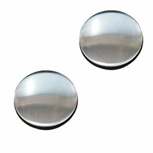 2 Pack Sink Tap Faucet Hole Cover Kitchen Sink Plug Brushed Stainless Steel
