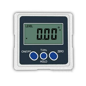 One Axis Digital Angle Protractor Precision Inclinometer 4x90° 3 Magnetic Sides $37.79