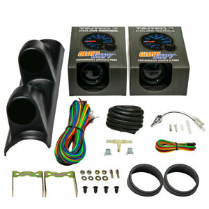 GlowShift T7 Boost Water Temperature Gauges Dual Pod for 96 00 Honda Civic $124.99