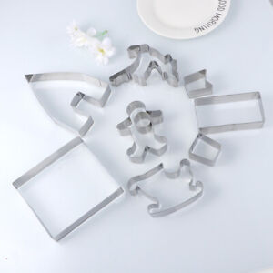 Stainless Steel DIY Cookie Mold for Dough Candy 9PCS Christmas Cutter $13.99