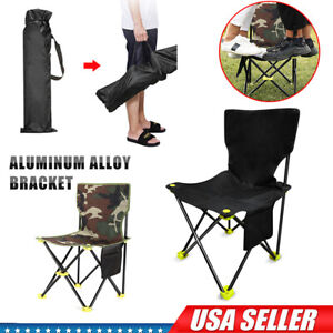 300lbs Heavy Duty Portable Folding Camping Chair Outdoor Fishing Picnic