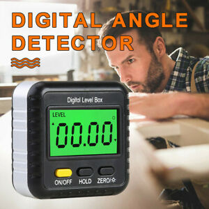 LCD Magnetic Digital Display Protractor Inclinometer Electronic Angle Finder Box $8.99