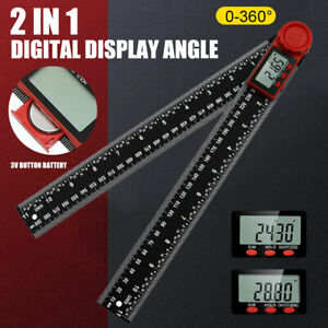 300mm Electronic Protractor LCD Digital Goniometer Angle Finder Gauge Ruler ^ $13.99