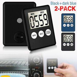 Large 2 Pack LCD Digital Timer Kitchen Cooking Count Down Up Clock Loud Alarm