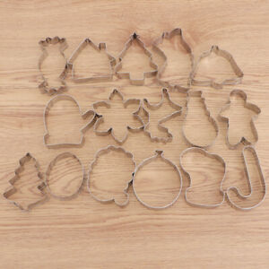 16PCS Christmas Cutter DIY Stainless Steel Cookie Mold for Pastry $15.10
