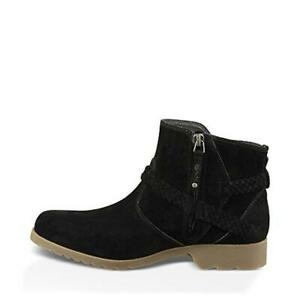 Teva Womens Delavina Black Suede Ankle Boots Shoes 7 Medium BM BHFO 4087 $59.99