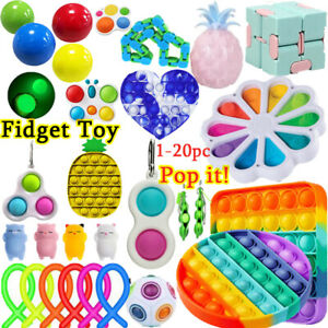 Fidget Toys Set Sensory Tools Bundle Stress Relief Hand Kids Adults ADHD Toy Set $21.99